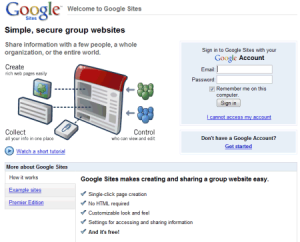 google-sites-login
